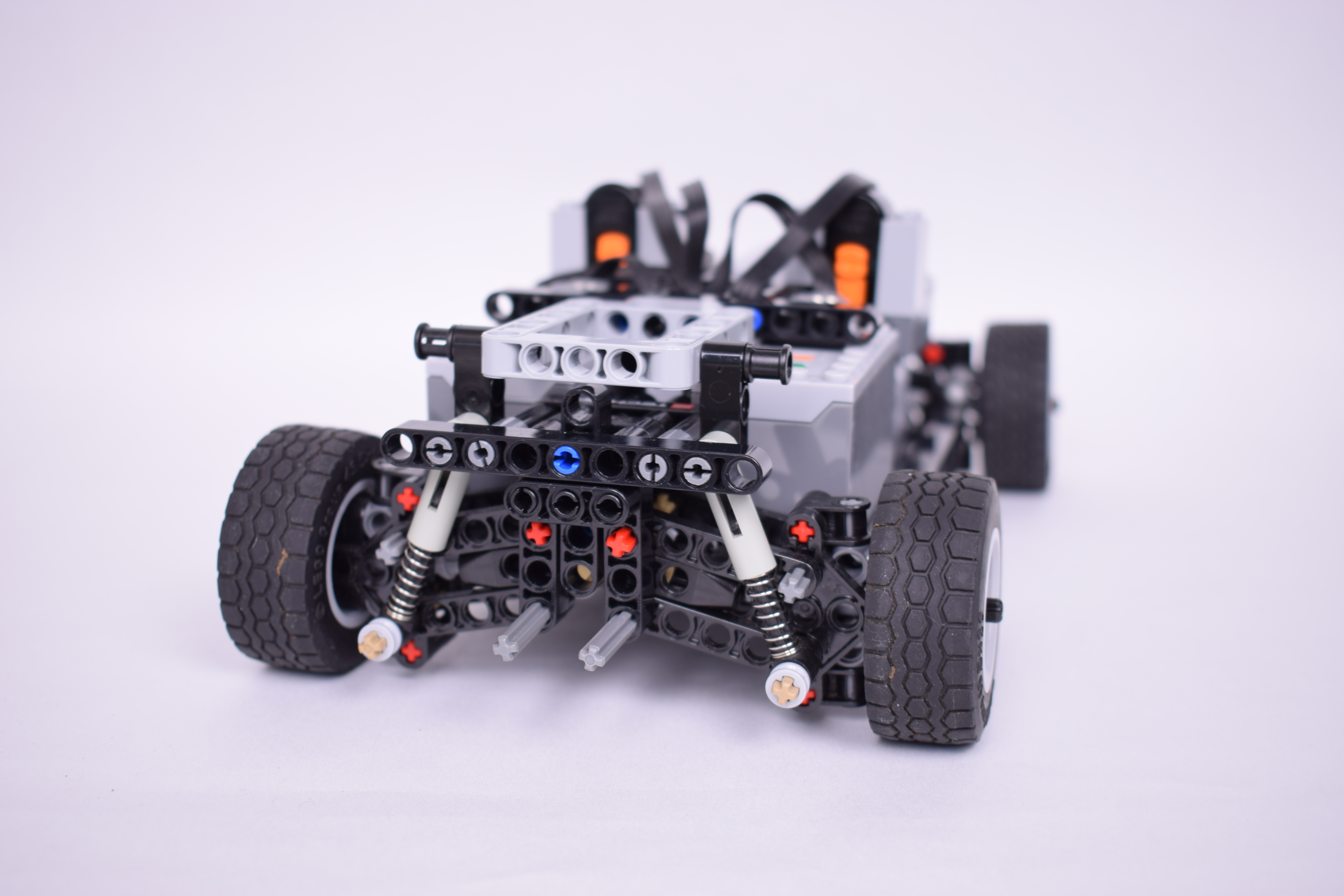 Compact Lego Technic 4 Wheel Drive Chassis With Building
